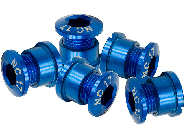 NC-17 Boulon de plateau 4 et 5 trous, blue